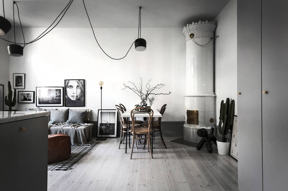 Shades of grey in Swedish apartment