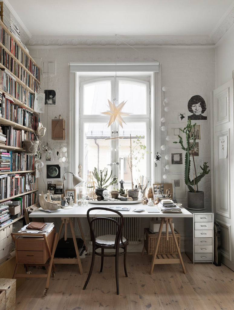 Nina Persson's Eclectic Home in Malmö- workspace