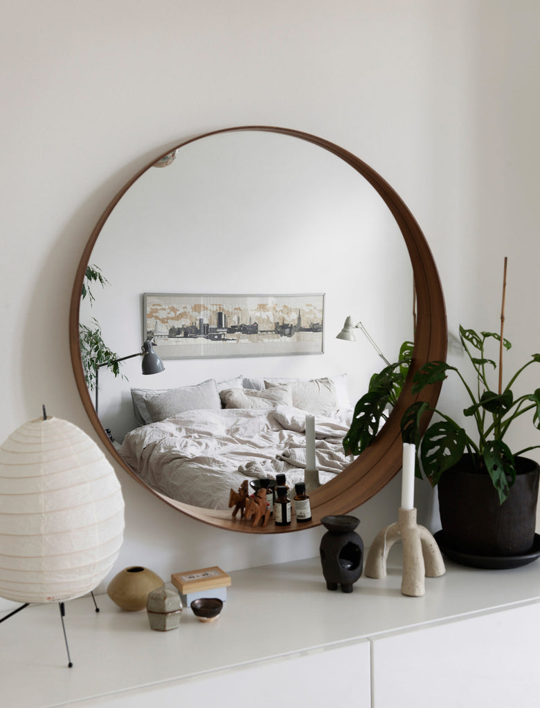 Nina Persson's Eclectic Home in Malmö- Scandi style bedroom detail