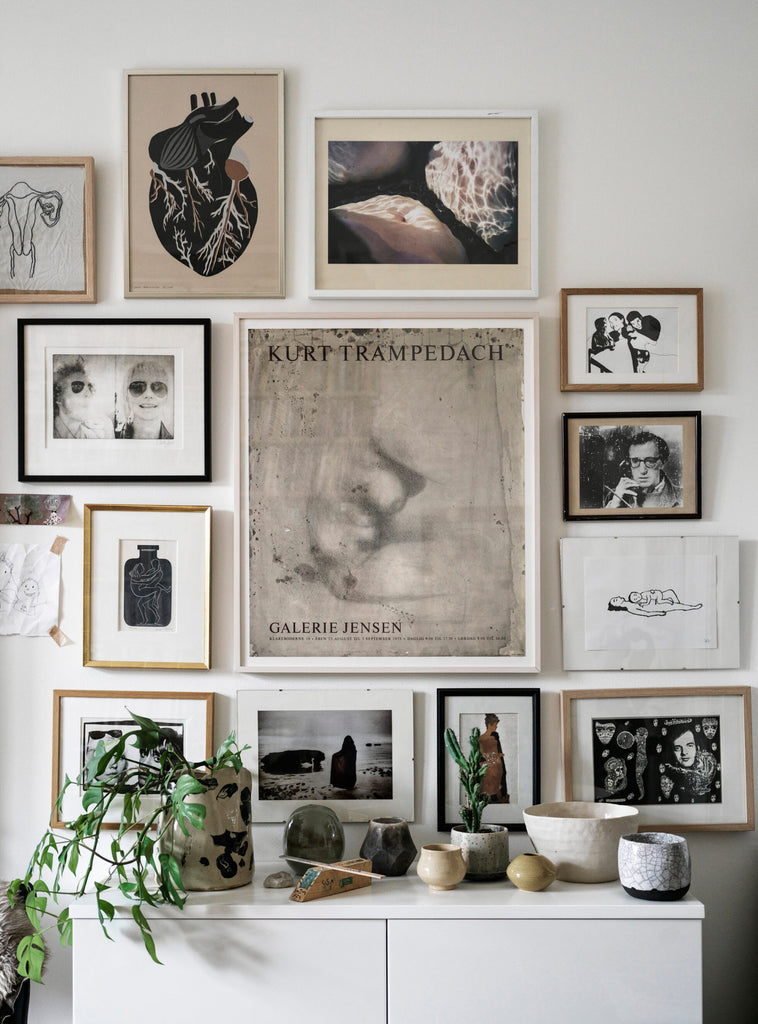 Nina Persson's Eclectic Home in Malmö - gallery wall
