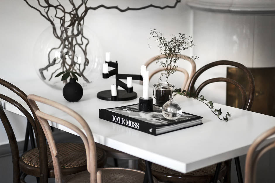 Beautifully styled dining table