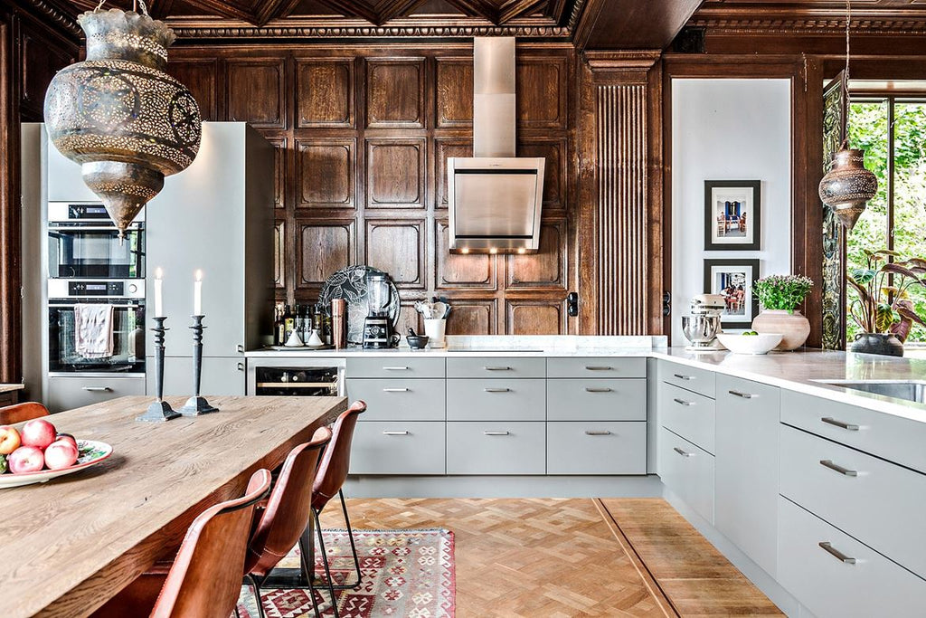 Grand Living in Sweden Kitchen