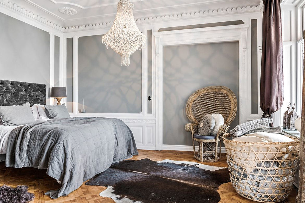 Bedroom in Grand Swedish Home