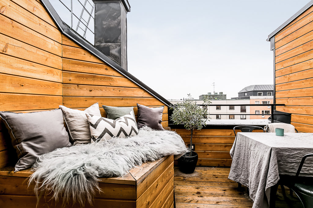 Lovely private and cosy balcony in Sweden