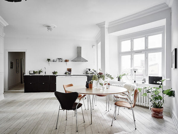 Bright and open kitchen in Gothenburg