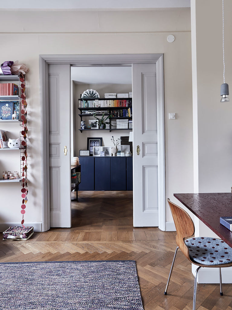 kid's space with view to the study in Swedish apartment