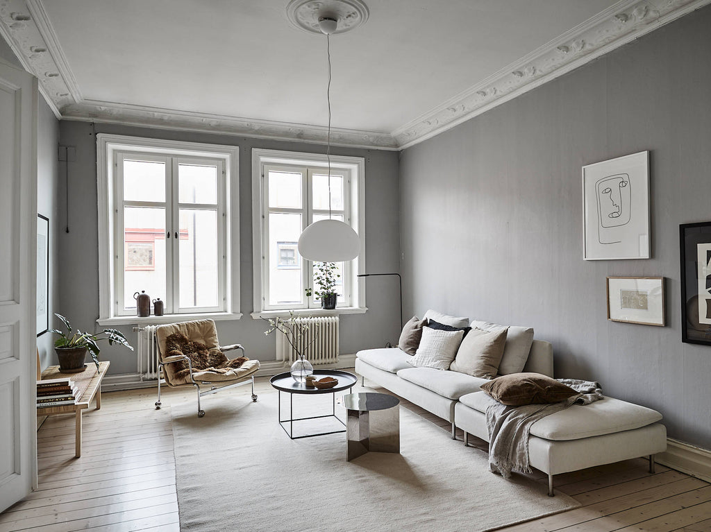 Lovely Swedish apartment with cosy neutral tones