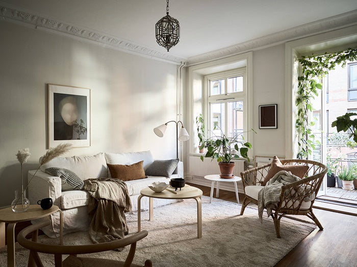 Casual Swedish style living room