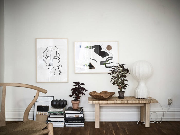 laid back style in Swedish apartment