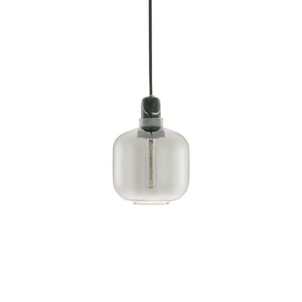Amp Lamp Small | Smoke /Black - Scandinavian style | Nordic Design | Grøn + White