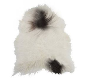 ICELANDIC ORGANIC SHEEPSKIN -White with Spots - Grøn + White