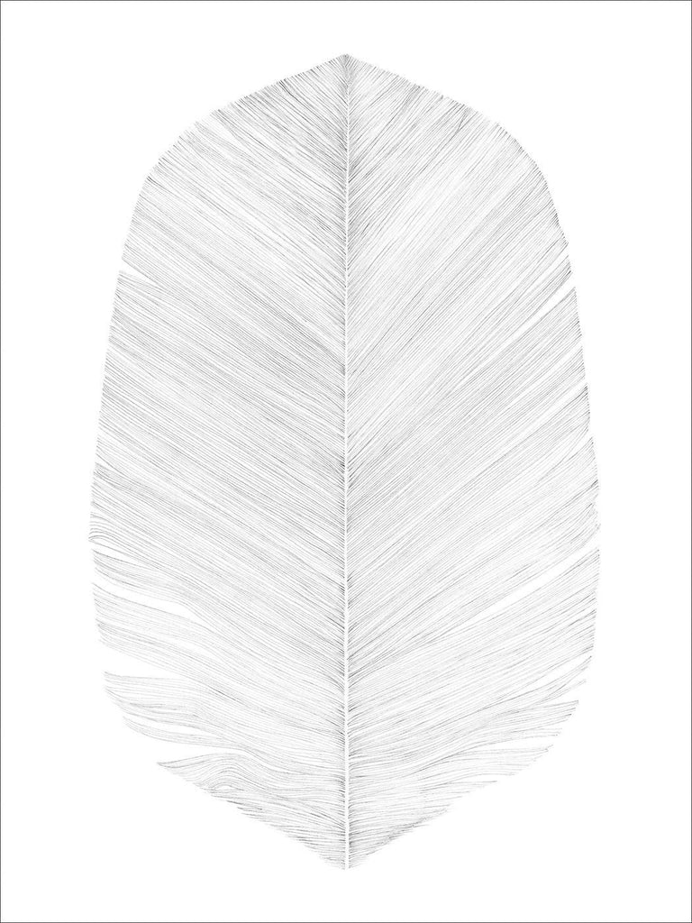 White Feather Print - Grøn + White