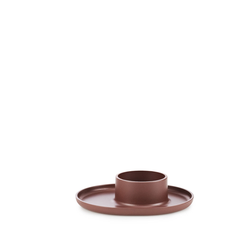 FOLK TEA LIGHT HOLDER- Burgundy | Normann Copenhagen | Grøn + White  - 1
