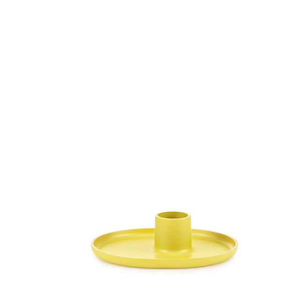 Folk Candleholder | Yellow - Grøn + White