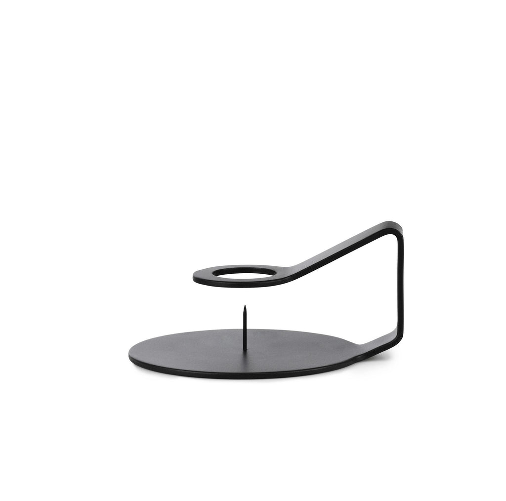 Nocto Candle Holder | Black - Scandinavian style | Nordic Design | Grøn + White