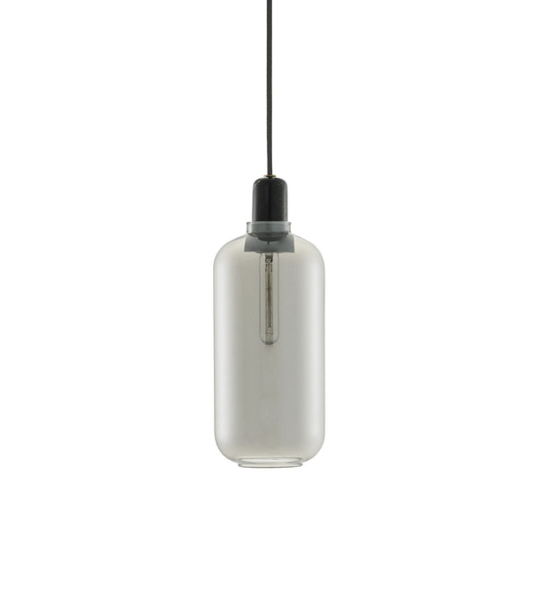 Amp Lamp Large | Smoke/Black - Scandinavian style | Nordic Design | Grøn + White
