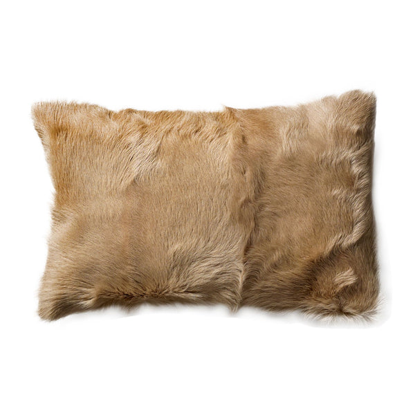 Goatskin Cushion | Cream - Grøn + White