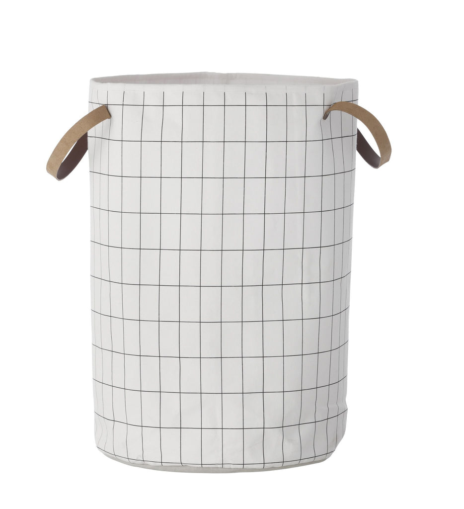 Grid Laundry Basket - Large - Scandinavian style | Nordic Design | Grøn + White