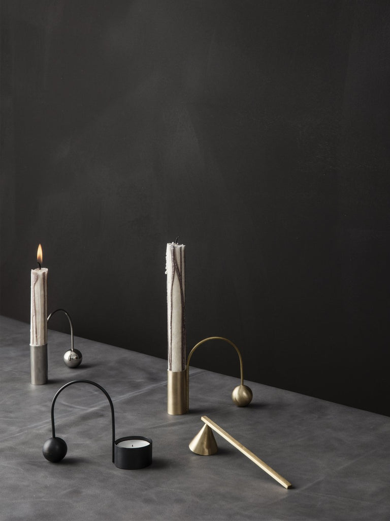 Balance Candle Holder - Scandinavian style | Nordic Design | Grøn + White