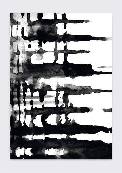 By Garmi | Dark Blackness Print - | Grøn + White