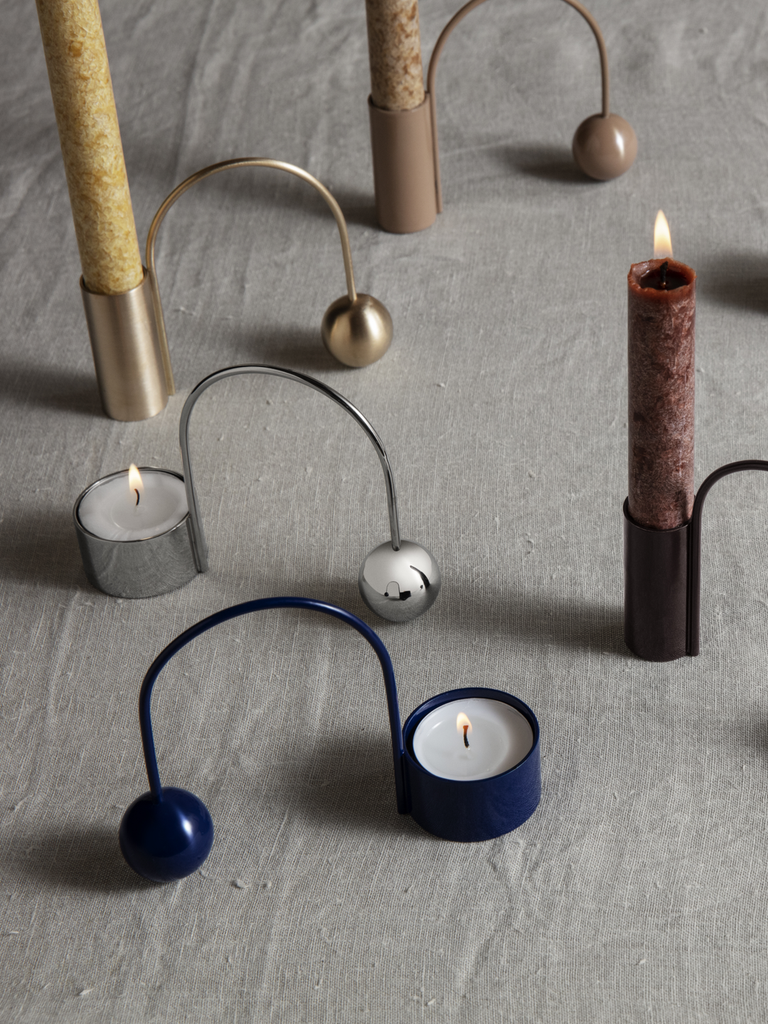 Balance Tealight Holder - Scandinavian style | Nordic Design | Grøn + White