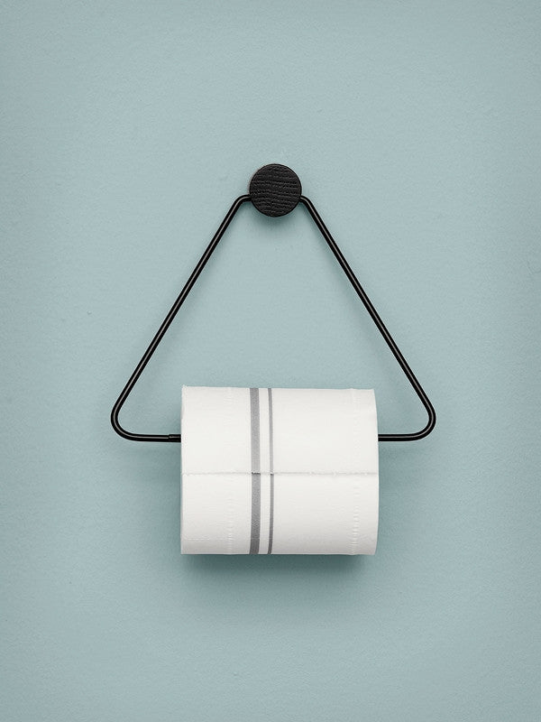 Triangle Toilet Paper Holder | Black