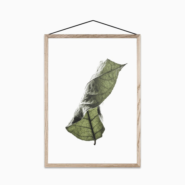 Floating Leaves Print No. 04 - Scandinavian style | Nordic Design | Grøn + White