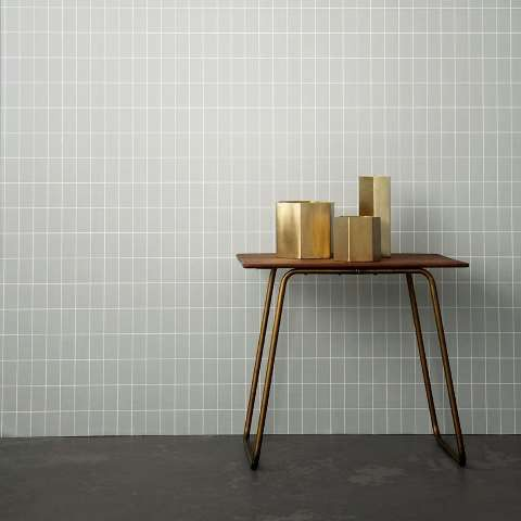 Brass Hexagon Pot / Tall - Grøn + White