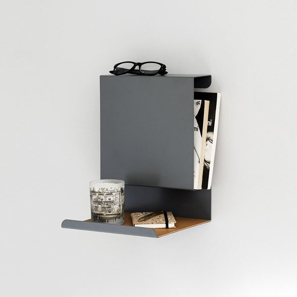 Ledgeable:Shelf | Anthracite - Grøn + White