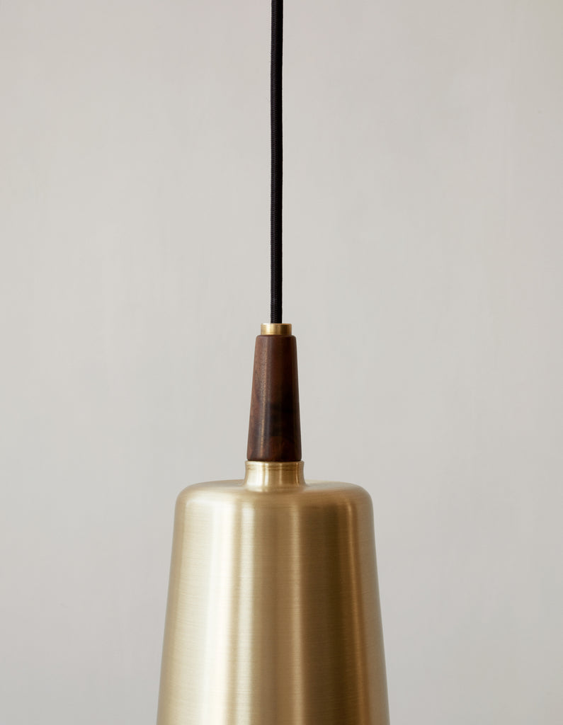 Detail of Umanoff Pendant Light | Walnut and Brass | Grøn + White