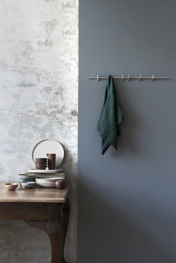 MOEBE Coat Rack - Chrome | Large - Grøn + White