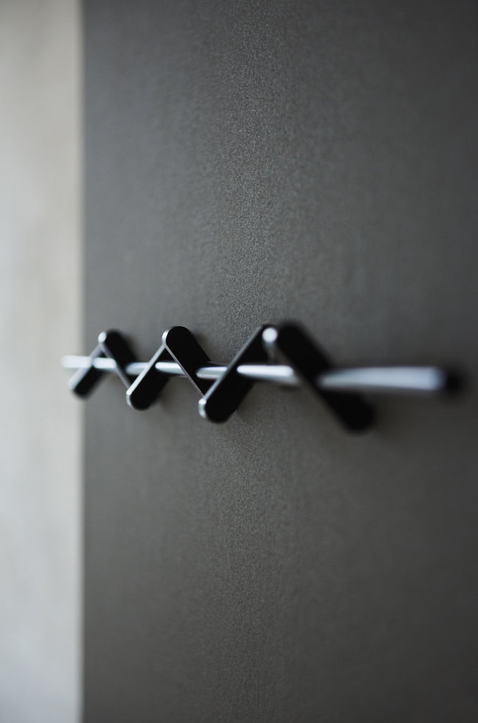 MOEBE Coatrack - Black | Large - Grøn + White