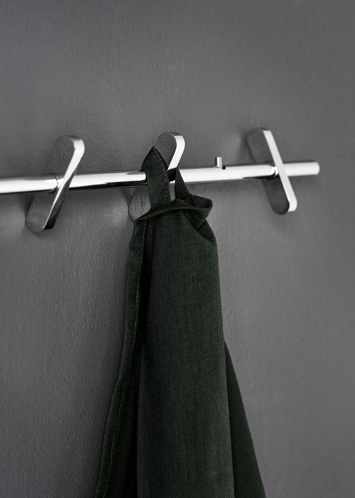 MOEBE Coat Rack - Chrome | Small - Scandinavian style | Nordic Design | Grøn + White