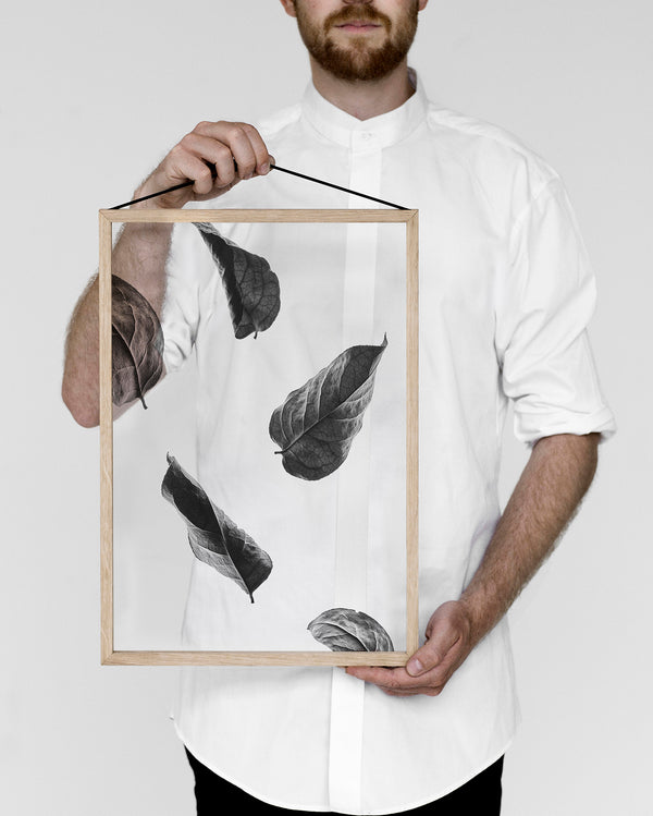 Floating Leaves Prints No. 2 - Scandinavian style | Nordic Design | Grøn + White