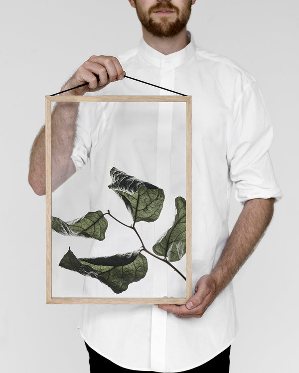 Floating Leaves Print No. 03 - Scandinavian style | Nordic Design | Grøn + White