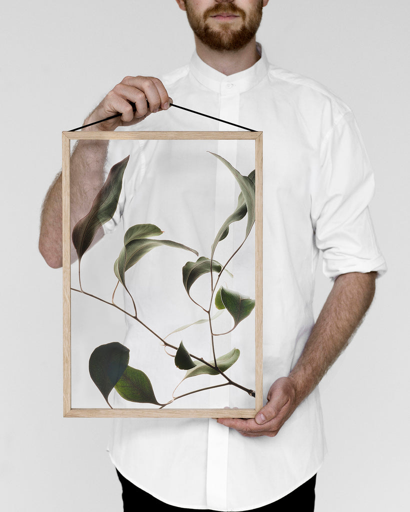 Moebe Floating Leaves No. 9 | grøn + white A3