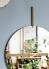 MOEBE Wall Mirror | Brass - Grøn + White