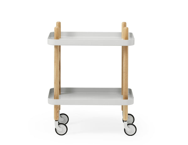 Block Table |  Light Grey - Scandinavian style | Nordic Design | Grøn + White