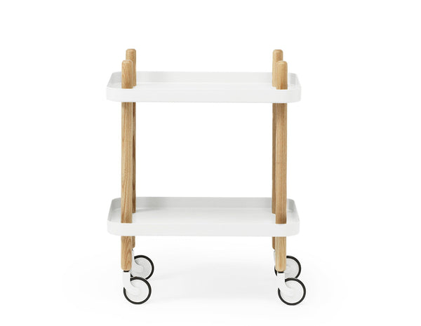 Block Table | White - Scandinavian style | Nordic Design | Grøn + White