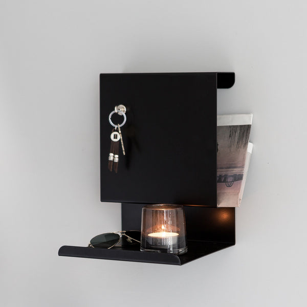 Ledge:Able  Shelf | Black - Grøn + White