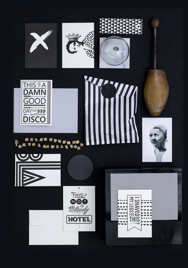 Room Service Greeting Card - Grøn + White
