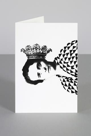 Royal Hearing Aid Greeting Card - Grøn + White