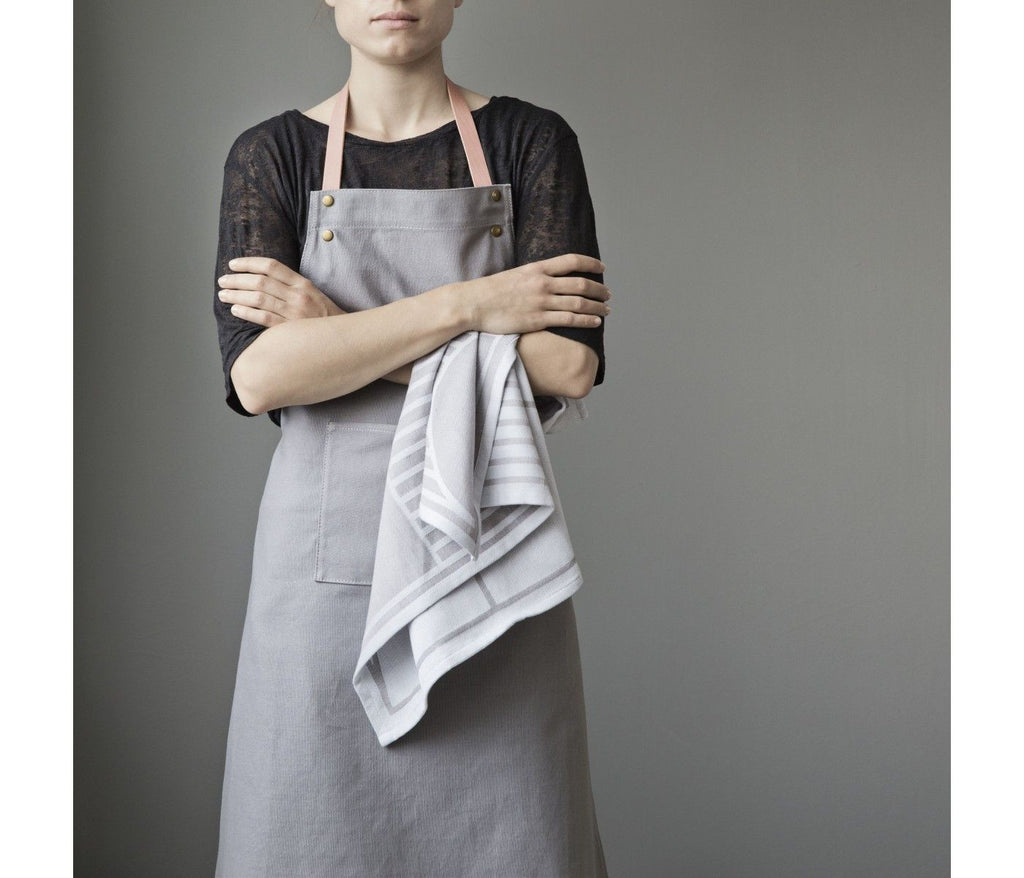 Apron | Grey - Grøn + White