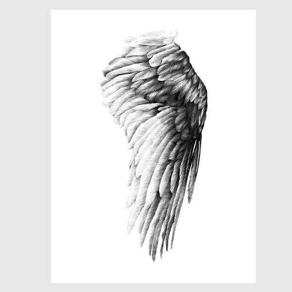 The Wing of Ikaros | Print - Scandinavian style | Nordic Design | Grøn + White