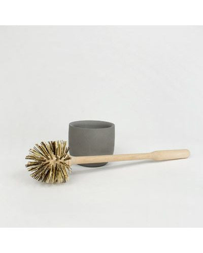 Iris Hantverk toilet concrete toilet brush | grøn + white