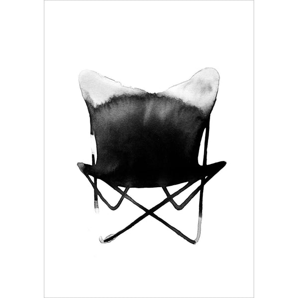 BUTTERFLY CHAIR Print - Grøn + White  - 1