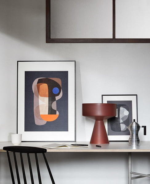 atalier cph | abstract cubism print | grøn + white \ styled at desk