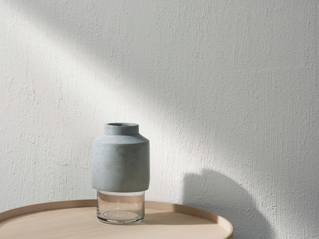 Willmann Vase Light Grey - Grøn + White