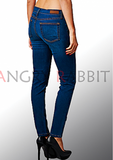 Ankle Length Skinny Jean, Medium Denim