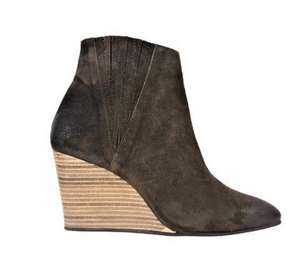 Nanda wedge bootie- hiking green